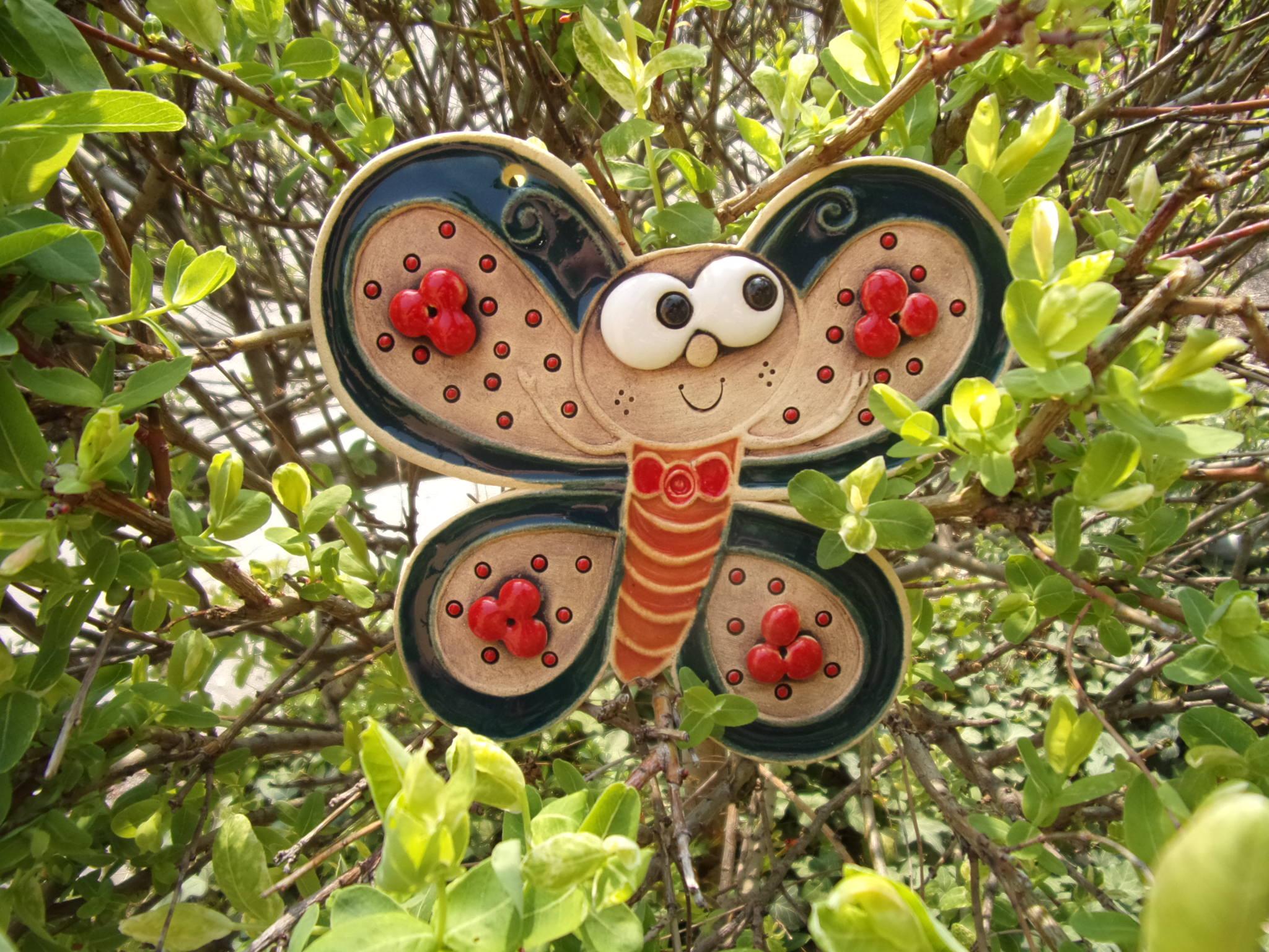 Motýl keramika